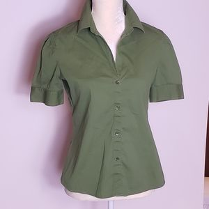 Theory womens Army Green top Size Medium